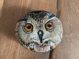 uil op steen